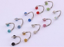 Wholesale fashion Nickel-free stainless steel body jewelry diamond eyebrow piercing
