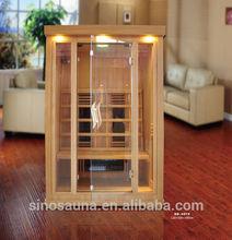 2 Person Far Infrared Sauna Cabin Far Infrared Sauna Room , Sauna House With Ceramic Heater