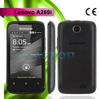 lenovo a269i dual sim card 3.5 inch 2g/3g/wifi/gprs android 2.3 mini small size mobile phone dual sim hot sale