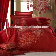 Wedding home used applique duvet cover set