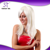 nice quality hot sale straight 200g 20 inches fashion white color wigs for sale online