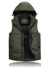 Men Warm Vest 2014 Brand New Design Fashion Men's Sleeveless Jacket Casual Mens Coat Cotton-padded Winter New Waistcoat