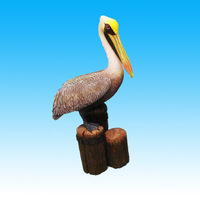 Decorative Resin Brown Pelican