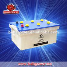 High quality lead acid MF car battery 12v 200Ah professional manufacturing