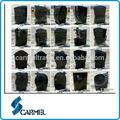 europäischen stil aus schwarzem granit grabstein
