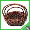 New design fruit willow basket sets/oval wicker fruit basket /wicker basket round with handle