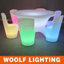 Round Illuminated Plastic Waterproof LED Dining Furnishing