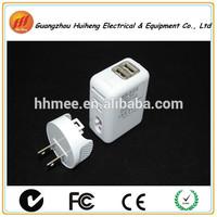 12/24v 2 Port flat usb wall charger adapt US plug
