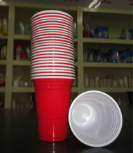 Eco-friendly giant sized red cups