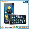 Original Umi X3 Cellphone Dual Sim Mobile Phone Octa Core MTK6592 Android 3G Smartphone 2GB RAM 32GB ROM