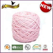 Hot sale hand knitting organic cotton yarn for drawstring bags