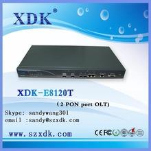 GEPON OLT, XDK E8120T 2 PON FTTH Fiber OLT , Fiber optical Tool