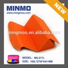 2014 China new innovative products luxury orange PU leather handmade optical case