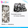 4.7 inch fashion bling with leaves and magnetic buttom customized phone case for iphone 6