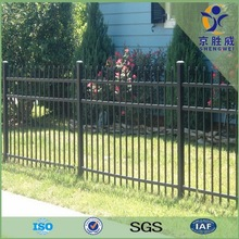 Security spear top tubular black steel fencing for home garden decoration