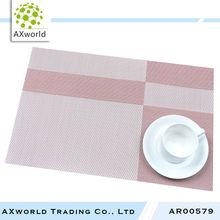 New arrival pink disposable PVC plastic placemat