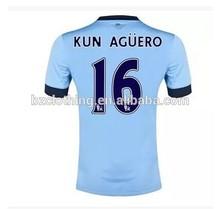 Manchester City Kun Aguero #16 Best Thailand Quality Soccer Jerseys