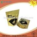 zíper com fecho de papel kraft de alimentos sacos de embalagem