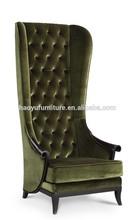 high back white throne chair