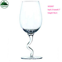 Factory Directly Twisted Stem Wine Glass