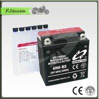 Small motorcycle mf lead acid battery 24V 6AH pack 6N6-BS