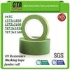 Green edge tape for outdoor 65G uv resistant waterproof painters tape