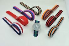 Hotsale fashion nato nylon interchangeable silicone strap watch