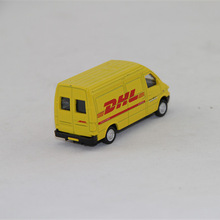6.5cm long DHL diecast mini van model
