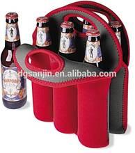 6 Pack Insulated Neoprene Beer Cooler Bag