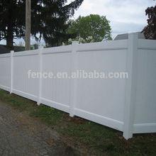 Vinyl plastic garden fence panels