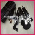 Hot sales 32PCS Blacck Colour makeup brush set with PU Pouch 32pcs