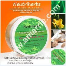 2014 banho produto salão de beleza 250 g Lightening & hidratante melhorar Elasicity sal de banho embalagem