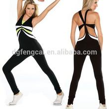 86% nylon 14% spandex custom mesh fitness women wear wholesale sport jumpsuit