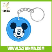 Clear resin blue lucky cat souvenir keychains