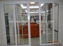 2014 new style double glass sliding pvc door (WJ-PSD-1514)
