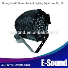 LED PAR LIGHT/ 36* 3 w/high power LED lights/stage wedding mixed color lights