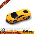 Hot Sell!Newest Fashion popular Gift Mini Cool Yellow Little sports car 8GB USB Flash Drive