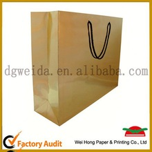 recycled luxury paper shopping bag,factory recycle paper shopping bag design