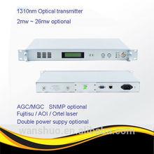 Brazil, ,Venezuela,ArgetiaCATV Optical Transmitter 10-26mW/AOI laser/Double power supply