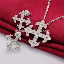 china wholesale 925 silver jewelry set silver snow FS709