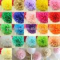 Yiwu aimee fornecimento grossista de diferentes tamanhos de papel tissue pompons bolas de flores, papelcrepe flor( sou- pb01)
