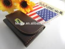 fashionable design leather money clip wallet wholesale