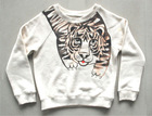 OEM 2013 high quality with tiger print kids raglan sleeve crewneck pullover sweatshirt, childrens clothing china