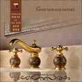 himark ouro antigo chapeado dupla bica torneira