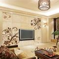 el patrón de flor de porcelana de fondo de la tv de la pared de diseño