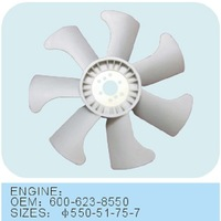 Cooling System Gray Types Of Fan Blades For Auto 600-623-8550
