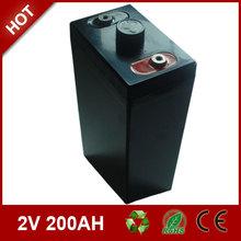 Security alarm system battery 2v 200ah sealed storage battery