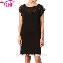 Moda de encaje negro de corea modelos de falda larga