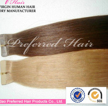 virgin human hair products top quality hair tape hair weft accept paypal and escrow