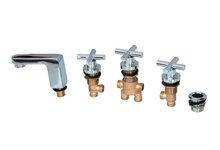 Adjustable Bathtub Faucet Deck Mounted Spout Spa Hydromassage Sink Accessories